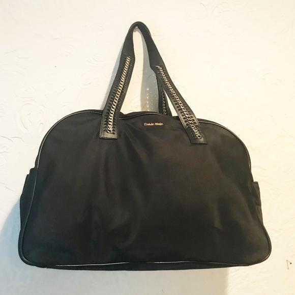 8fa0a0c87c3 Calvin Klein Bags | Black Nylon Weekender Duffel | Poshmark